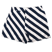 Jasper Boxer Short - Repp Stripe Navy/White