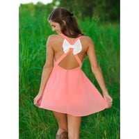 Waiting For Prince Charming Dress-Peach