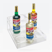 13W x 10D x 5H Clear 3 Tier 9 Bottle Organizers
