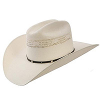 Stetson and Dobbs SSWHTH-6940 Mens White Horse Cowboy Hat, Natural - M