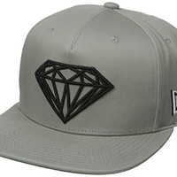 Diamond Supply Co Men's Brilliant Snapback, Heather Grey, One Size