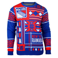 New York Rangers KLEW Patches Ugly Sweater Sizes S-XXL w/ Priority Shipping