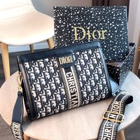 Dior new wide shoulder strap female shoulder bag Messenger bag