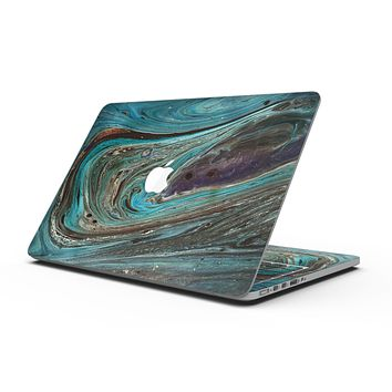 Swirling Dark Acrylic Marble - MacBook Pro with Retina Display Full-Coverage Skin Kit
