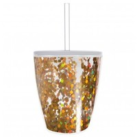 Gold Confetti Double Old-Fashioned Acrylic Tumbler