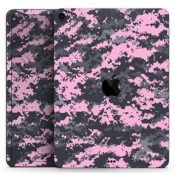 "Light Pink and Gray Digital Camouflage - Full Body Skin Decal for the Apple iPad Pro 12.9"", 11"", 10.5"", 9.7"", Air or Mini (All Models Available)"