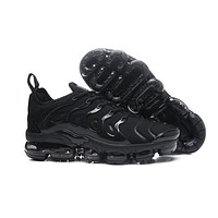 2018 Nike Air VaporMax Plus TN Triple Black | 924453-004 Sport Running Shoes