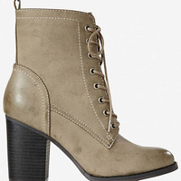 Lace-up Heeled Boot from EXPRESS