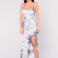 Seeing Things Maxi Dress - Black/Grey