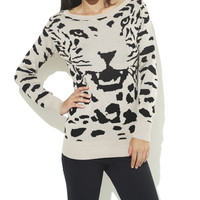 Animal Head Tunic Sweater  | Shop Sweaters at Wet Seal