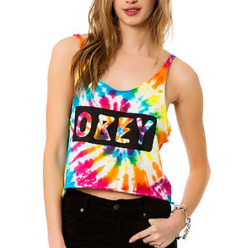 The Dive Bar Cropped Tank in Tie Dye