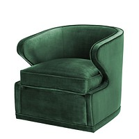 Green Velvet Swivel Chair | Eichholtz Dorset