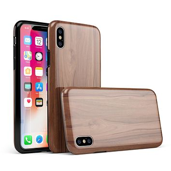 Smooth-Grained Wooden Plank - iPhone X Swappable Hybrid Case