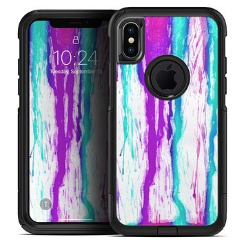 Running Purple and Teal WaterColor Paint - Skin Kit for the iPhone OtterBox Cases