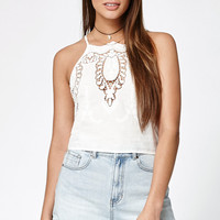 Kendall and Kylie Woven Appliqué Tank Top at PacSun.com