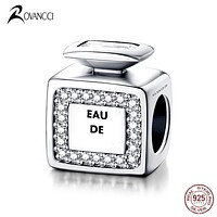 Authentic 925 Sterling Silver Bead Fashion Classic Scent Crystal Beads Fit Original Pandora Charms Bracelet & Bangle Jewelry