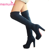 Low Price high quality new fashion women knee high boots thigh high suede boots platform high heels women shoes autumn winter