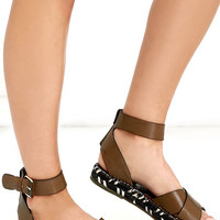 Circus by Sam Edelman Amber Saddle Brown Espadrille Sandals