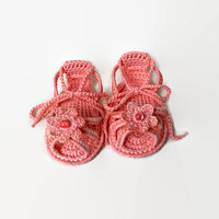 Crochet Baby clogs Newborn baby girl Crochet Baby sandals Crochet Baby flip flops Girls sandals Baby sandals Sandal shoes size 3/6 months
