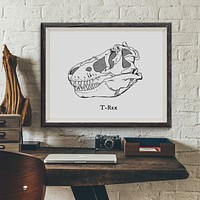 T-Rex Vintage Dinosaur Illustration