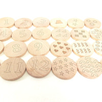 Numbers Wooden Matching Game
