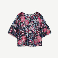 FLORAL EMBROIDERED TOP DETAILS