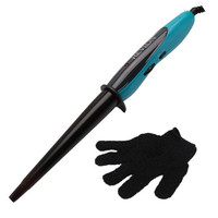 Ceramic Curling Hair Styling Cone Barrel Wand by Revlon with Heat Resistant Glove
