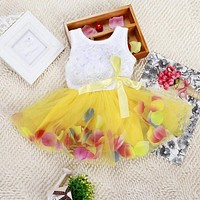 Infant Toddler Baby Kid Girls Princess Party Tutu Lace Bow Flower Dresses Clothes