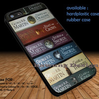 Game Of Thrones All Books DOP1101 case/cover for iPhone 4/4s/5/5c/6/6+/6s/6s+ Samsung Galaxy S4/S5/S6/Edge/Edge+ NOTE 3/4/5 #movie #gameofthrones