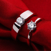 New Designer Forever Love Wedding Rings Pair, Couple Rings Men Jewelry Big Size 12 Sterling Silver 925 and Zircon Ulove J036 = 1929966212