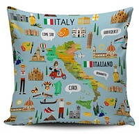 Italian Teacher Pillow Cover