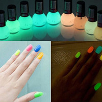 8ml Fluorescent Non-toxic Nail Polish Nail Varnish Lacquer Paint Nail Art for Lady Girl = 1958733316