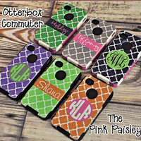 Monogram Otterbox Commuter Phone Case Clover Design