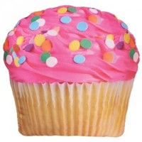 iscream Spring-Time Treats Pink Icing Cupcake Microbead Pillow