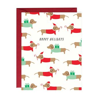 Dachshund Christmas Card Boxed Set of 6 Cards