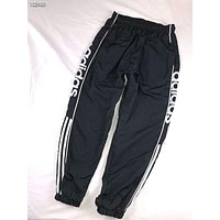 ADIDAS men and women lovers wear thin casual pants trousers F-AG-CLWM black