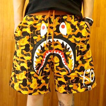 BAPE 2019 new men and women camouflage casual beach shorts