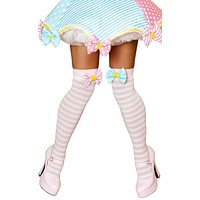 Sexy Carnival Pastel Stocking Bow Toppers
