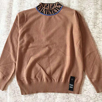 FENDI Women Fashion Long Sleeve Pullover Sweatshirt Top Sweater