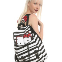 Hello Kitty Striped Slouch Backpack