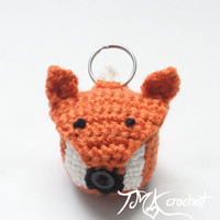 Crochet Fox EOS Lip Balm Holder PDF Pattern.