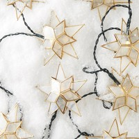 Capiz Star String Lights