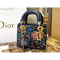 DIOR selling casual ladies' printed shoulder bag and fashionable shopping bag