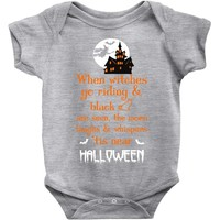 witches halloween Baby Bodysuit
