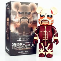Cool Attack on Titan 400% Be@rBrick  Gloomy Bear Original Fake Bearbrick Action Figure Cartoon Medicom Toy L1998 AT_90_11