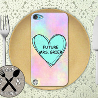 Future Mrs. Grier Pink Pastel Tumblr Candy Heart Cute Custom Rubber Case iPod 5th Generation and Plastic Case For The iPod 4th Generation