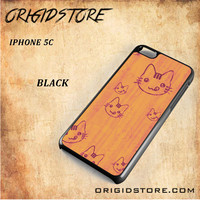 Wood Greedy Hello Kitty For Iphone 5C Case - Gift Present Multiple Choice