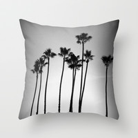 palm trees land Throw Pillow by Marianna Tankelevich