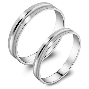 Japanese pair rings Frosted sterling silver - Gifts for Girlfriend - Gifts for Christmas Rhinestones iPhone 5 4S 3GS Cases, Couple Necklaces / Wedding Rings & Uncommon Gift Ideas - Worldwide Shipping