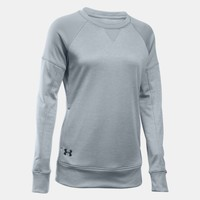 Women's UA Armour® Fleece Textured Long Sleeve Crew | Under Armour US